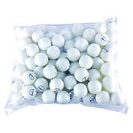 100 balles de ping-pong (Pcs Jaune, Blanc)
