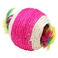 sisal hueco doble bola de estilo juguetes por arañazo de gato (color al azar)