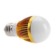 E26/E27 6 W 3 High Power LED 500 LM Warm White Globe Bulbs AC 100-240 V