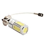 H3 7.5W 600LM 7000-8000K White Light High-Power LED Bulb for Car Lamps (DC 12V)