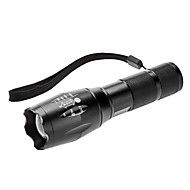 LED Flashlights/Torch / Handheld Flashlights/Torch LED 3 Mode Lumens Adjustable Focus Cree XM-L T6 AAA Others , Black Aluminum alloy
