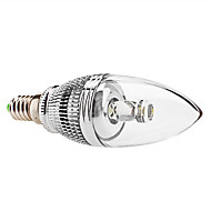 E14 3 W 1 High Power LED 240 LM Natural White C Dimmable Candle Bulbs AC 85-265 V