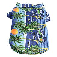honden T-shirt / Kleding / Kleding Blauw Zomer Vakantie