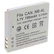 Digital Video Batteri Byt Canon NB-4L för Canon IXUS115 IXUS220 och mer (3.7V, 780 mAh)