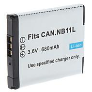 Digital Video Batteri Byt Canon NB-11L för Canon IXUS 240HS och mer (3.6V, 680 mAh)