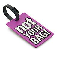 Étiquette de bagage de voyage - PAS VOTRE SAC (Violet)