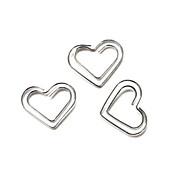 motif coeur argent trombones en plastique enveloppé (10pcs)
