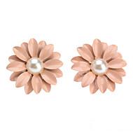 Kolczyki na sztyft Słodkie Style Perłowy Ceramiczny Flower Shape Stokrotka Różowy Biżuteria Na Codzienny