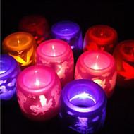 elektronisk flamfri ledde levande ljus (slumpvis färg)