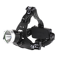 LED Flashlights/Torch / Headlamps LED 3 Mode 1000 Lumens Rechargeable Cree XM-L T6 18650 Others , Black Aluminum alloy
