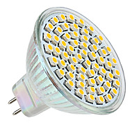 3w gu5.3 (mr16) led spotlight mr16 60 smd 3528 250 lm sıcak beyaz dc 12 v