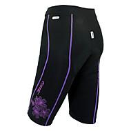 Santic 82% Nylon +18% Spandex Windproof + Warm-Manter as mulheres calções de ciclismo com Pad 6D