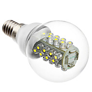E14 2W 32x5050 SMD 160-175LM 6000-6500K Natural White Light Żarówka LED Ball (220V)
