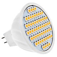 Lâmpadas de Foco de LED GU5.3(MR16) 4W 320 LM 3000K K Branco Quente 60 SMD 3528 DC 12 V MR16