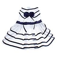 개를위한 bowknot 귀여운 네이비 스트라이프 패턴 시원한 여름 애완 동물 드레스
