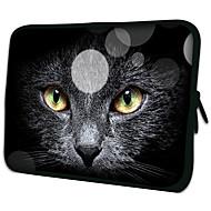 """Case """"Black Cat Face"""" Pattern Matériau Nylon imperméable manches pour 11 """"/ 13"""" / 15 """"pour ordinateur portable et Tablet"""