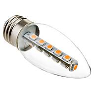 3W E26/E27 LED svíčky C35 16 SMD 5050 180 lm Teplá bílá Ozdobné AC 220-240 V