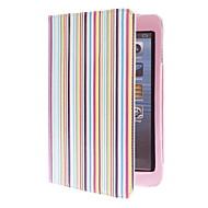Colorful Stripes Pattern PU Leather Case with Stand for iPad mini 3, iPad mini 2, iPad mini