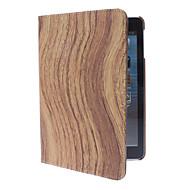 drejelig bølgeform træ korn sag w / står for iPad Mini 3, iPad Mini 2, ipad mini