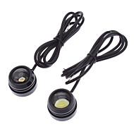 10W 800-900LM 2-Mode White Light Eagle Eye LED Bulb for Car Daytime Running Lamp (12-24V, 1-Pair)
