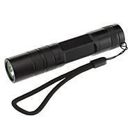 LED손전등 / 손전등 LED 3 모드 200 루멘 Cree XR-E Q5 18650 캠핑/등산/동굴탐험 / 일상용 / 사이클링 / 사냥 - 기타 , 블랙 알루미늄 합금