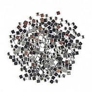 1000PCS Square Shaped Rhinestone Nail Art Decoration 2mm Transparent