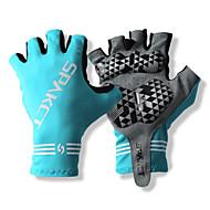 SPAKCT S13G03 Trajni poliester i Vinylal Materijali poluvrijeme prst rukavice Dizajn za Biciklizam Bicikl-Plavi