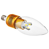 E12 3W 6x5630SMD 200-220LM 5800-6500K Natural de Ouro Branco Shell LED Light Bulb Candle (110-240V)