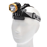 3-Mode Cree XM-L T6 LED světlometů (1000LM, 4x18650, Red / Gold)