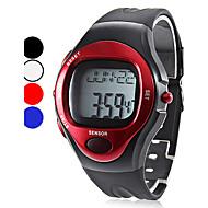 Hombre Reloj de Pulsera Digital LCD / Calendario / Cronógrafo / Resistente al Agua / alarma Caucho Banda Negro Marca-
