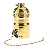E26 aranyszínű Izzó foglalat, lámpa kapcsolóval