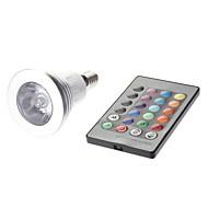 Spot LED Commandée à Distance MR16 E14 3W 1 LED Haute Puissance 180 LM AC 85-265 V