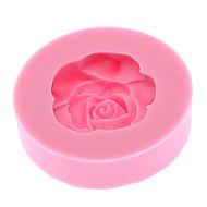 3D Rosa silicone a forma di biscotto Mold