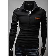 Shoulder Buckle Leather Pocket Decorated Shirt