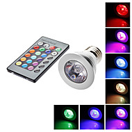 E26/E27 5 W 1 LM RGB MR16 Remote-Controlled Spot Lights AC 85-265 V