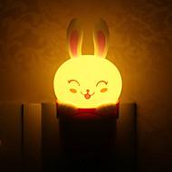 Conejo Style Light Plug precioso LED luz de la noche