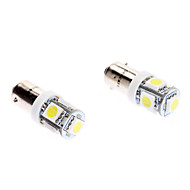 Ba9s 1W 5-SMD 70LM 6000-6500K White Light LED Bulb for Car (DC 12V, 2-Pack)