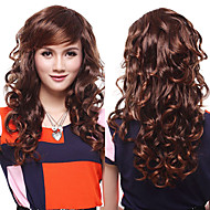 Capless High Quality Synthetic Chestnut Brown Wavy Hair Wigs