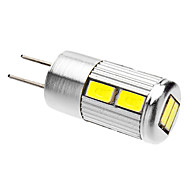 G4 4.5 W 10 SMD 5730 350-380 LM Cool White Spot Lights AC 12 V