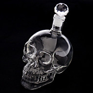 kristallen schedel hoofd vorm wijn drinken wodka glazen fles karaf nieuwigheid cadeau