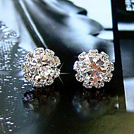 Earring Flower Stud Earrings Jewelry Women Daily Crystal / Alloy