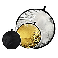 "24 ""2 in1 de argint aurit disc reflector pliabil 60cm"