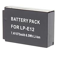 LP-E12 Ersatz 700mAh Li-Ionen-Akku für CANON EOS M - Schwarz