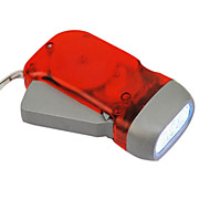 Rosse Eco-friendly Torcia dinamo a 3 LED