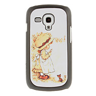 Fair Girl Drawing Pattern Protective Hard Back Cover Case for Samsung Galaxy S3 Mini I8190