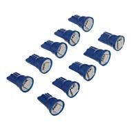 10Pcs T10 1x5050SMD 10-20LM Bule Light LED Bulb for Car (12V)