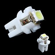 T5 B8.5D 5050 SMD Auton LED-merkkivalo kevyiden Speedo Dashboard Side Interior lampun Valkoinen