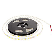 Impermeável 60W 5M 60x5050SMD 3000-3600lm 2800-3200K luz branca quente LED Strip Light (DC12V)