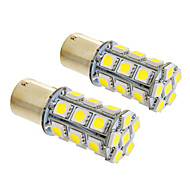 1156/BA15S 6W 24x5050SMD 490LM 5500-6500K Cool White Light LED lamp voor in de auto (12V, 2 stuks)