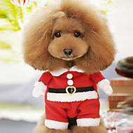 犬用品 - 冬 - クリスマス 用- コットン - コート / コスチューム - レッド - XS / M / XL / S / L